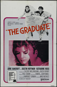 """The Graduate (Embassy, R-1968). Foreign One Sheet (27"""" X 41""""). Comedy. Directed by Mike Nichols. Starring Dust..."""