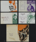 "Movie Posters:Drama, Herald Lot (Asst., 1933-1937) Heralds (5). Offered in this lot arethe following Heralds: ""Dangerous Number"" (6"" X 9""), ""Flo...(Total: 5 Items)"