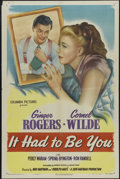 "Movie Posters:Comedy, It Had to Be You (Columbia, 1947). One Sheet (27"" X 41""). Comedy. Directed by Don Hartman and Rudolph Maté. Starring Ginger ..."