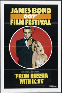 """James Bond Film Festival: From Russia With Love (United Artists, R-1975). One Sheet (27"""" X 41""""). Style B. Acti..."""