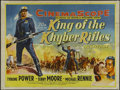 """Movie Posters:Adventure, King of the Khyber Rifles (20th Century Fox, 1953). British Quad (30"""" X 40""""). Action. Directed by Henry King. Starring Tyron..."""