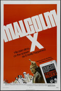 """Movie Posters:Documentary, Malcolm X (Warner Brothers, 1972). One Sheet (27"""" X 41""""). Documentary. Directed by Arnold Perl. Starring James Earl Jones, O..."""
