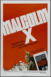 """Malcolm X (Warner Brothers, 1972). One Sheet (27"""" X 41""""). Documentary. Directed by Arnold Perl. Starring James..."""