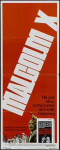"""Movie Posters:Documentary, Malcolm X (Warner Brothers, 1972). Insert (14"""" X 36""""). Documentary. Directed by Arnold Perl. Starring James Earl Jones, Ossi..."""