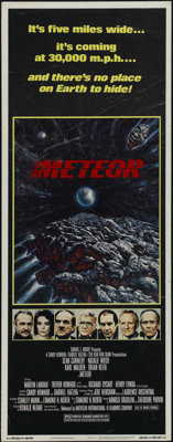 "Meteor (AIP, 1979). Insert (14"" X 36""). Sci-Fi. Directed by Ronald Neame. Starring Sean Connery, Natalie Wood..."