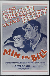 "Min and Bill (MGM, R-1962). One Sheet (27"" X 41""). Comedy. Directed by George W. Hill. Starring Marie Dressler..."