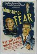 """Movie Posters:Film Noir, Ministry of Fear (Paramount, 1944). One Sheet (27"""" X 41""""). Thriller. Directed by Fritz Lang. Starring Ray Milland, Marjorie ..."""