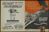 "North by Northwest (MGM, 1959). Herald (8"" X 10""). Thriller. Directed by Alfred Hitchcock. Starring Cary Grant..."
