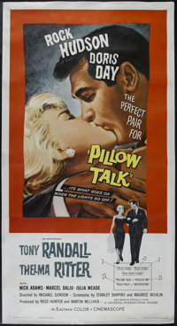 "Pillow Talk (Universal, 1959). Three Sheet (41"" X 81""). Comedy. Directed by Michael Gordon. Starring Doris Day..."