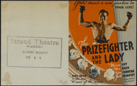 """The Prizefighter and the Lady (MGM, 1933). Herald (5.5"""" X 7""""). Crime. Directed by W.S. Van Dyke. Starring Myrn..."""