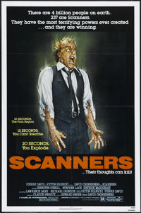 "Scanners (AVCO Embassy Pictures, 1981). One Sheet (27"" X 41""). Horror. Directed by David Cronenberg. Starring..."