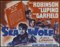"""Movie Posters:Adventure, The Sea Wolf (Warner Brothers, 1941). Herald (9"""" X 11"""") Adventure.Directed by Michael Curtiz. Starring Edward G. Robinson, ..."""