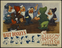 """Snow White and the Seven Dwarfs (RKO, R-1943). Lobby Card (11"""" X 14""""). Animated. Directed by Dorothy Ann Blank..."""