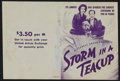 "Movie Posters:Comedy, Storm in a Teacup (United Artists, 1937). Herald (6"" X 9""). Comedy. Directed by Ian Dalrymple and Victor Saville. Starring V..."