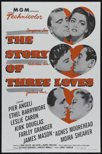 "The Story of Three Loves (MGM, R-1962). One Sheet (27"" X 41""). Drama. Directed by Vincente Minnelli. Starring..."