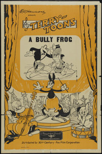 """Terry-Toons Stock: The Bully Frog (Educational Pictures, 1937). One Sheet (27"""" X 41""""). Animated Short. Directe..."""