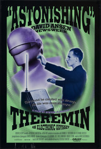 "Theremin (Orion, 1993). One Sheet (27"" X 41""). Documentary. Directed by Steven M. Martin. Edited by David Gree..."