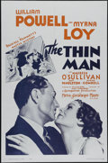"Movie Posters:Mystery, The Thin Man (MGM, R-1962). One Sheet (27"" X 41""). Drama. Directed by W.S. Van Dyke. Starring William Powell, Myrna Loy, Mau..."