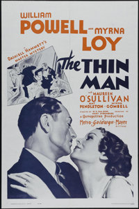 """The Thin Man (MGM, R-1962). One Sheet (27"""" X 41""""). Drama. Directed by W.S. Van Dyke. Starring William Powell..."""