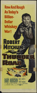 "Movie Posters:Action, Thunder Road (United Artists, 1958). Insert (14"" X 36""). Crime. Directed by Arthur Ripley. Starring Robert Mitchum, Gene Bar..."