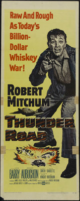 """Thunder Road (United Artists, 1958). Insert (14"""" X 36""""). Crime. Directed by Arthur Ripley. Starring Robert Mit..."""