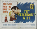"Movie Posters:Drama, Thy Neighbor's Wife (20th Century Fox, 1953). Half Sheet (22"" X 28""). Drama. Directed by Hugo Haas. Starring Cleo Moore, Hug..."