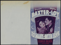 """To Mary - With Love (20th Century Fox, 1936). Herald (6"""" X 9""""). Drama. Directed by John Cromwell. Starring War..."""