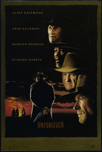 """Unforgiven (Warner Brothers, 1992). One Sheet (27"""" X 40""""). Double Sided. Western. Directed by Clint Eastwood..."""