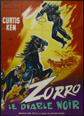 """Movie Posters:Adventure, Zorro's Black Whip (Republic Pictures, 1944). French Grande (47"""" X63""""). Serial. Directed by Spencer Gordon Bennett and Wall..."""