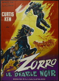 """Zorro's Black Whip (Republic Pictures, 1944). French Grande (47"""" X 63""""). Serial. Directed by Spencer Gordon Be..."""