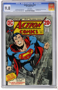 Action Comics #419 (DC, 1972) CGC NM/MT 9.8 White pages. First appearance of the Human Target. Curt Swan, Murphy Anderso...