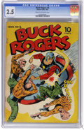 Golden Age (1938-1955):Science Fiction, Buck Rogers #5 (Eastern Color, 1943) CGC GD+ 2.5 Cream to off-whitepages. This issue's story was continued in Famous Funnie...