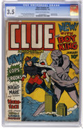 Golden Age (1938-1955):Crime, Clue Comics #1 (Hillman Publications, 1943) CGC VG- 3.5 Cream to off-white pages. Origin of Boy King, Nightmare, Micro-Face,...