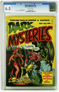 Golden Age (1938-1955):Horror, Dark Mysteries #1 (Master Publications, 1951) CGC FN+ 6.5 Off-whitepages. Wally Wood cover. Wood and Lou Cameron art. Overs...