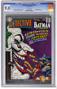 Detective Comics #365 (DC, 1967) CGC VF/NM 9.0 Off-white pages. Joker cover and story. Elongated Man back-up story. Carm...
