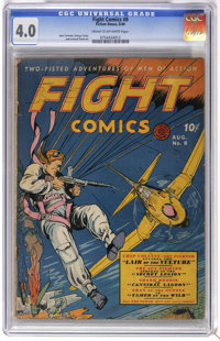 Fight Comics #8 (Fiction House, 1940) CGC VG 4.0 Cream to off-white pages. Art by John Celardo, George Tuska, and Leonar...