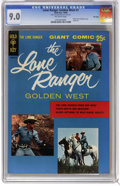 Silver Age (1956-1969):Adventure, The Lone Ranger Golden West #1 File Copy (Dell, 1966) CGC VF/NM 9.0 Off-white pages. Photo front and back cover of Clayton M...