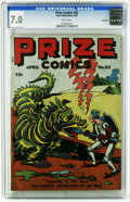 Golden Age (1938-1955):Miscellaneous, Prize Comics #52 Big Apple pedigree (Prize, 1945) CGC FN/VF 7.0 White pages. Overstreet 2006 FN 6.0 value = $45; VF 8.0 valu...