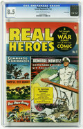 Golden Age (1938-1955):War, Real Heroes Comics #8 Pennsylvania pedigree (Parents' MagazineInstitute, 1943) CGC VF+ 8.5 Cream to off-white pages. Overst...