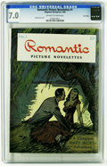 Golden Age (1938-1955):Romance, Romantic Picture Novelettes #1 Lost Valley pedigree (Magazine Enterprises, 1946) CGC FN/VF 7.0 Off-white to white pages. Cre...