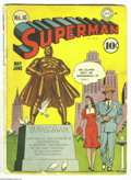 Golden Age (1938-1955):Superhero, Superman #16 (DC, 1942) Condition: GD+. This is the first time Lois Lane appeared on the cover in this title. Fred Ray cover...