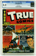 Golden Age (1938-1955):Non-Fiction, True Comics #26 (True, 1943) CGC VF 8.0 Off-white pages. This iscurrently the highest grade awarded by CGC for this issue. ...