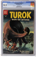 Silver Age (1956-1969):Adventure, Turok #13 File Copy (Dell, 1958) CGC VF+ 8.5 Off-white pages. RayBailey art. Overstreet 2006 VF 8.0 value = $79; VF/NM 9.0 ...
