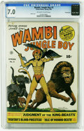 Golden Age (1938-1955):Adventure, Wambi the Jungle Boy #3 Pennsylvania pedigree (Fiction House, 1943) CGC FN/VF 7.0 Off-white to white pages. H. G. Kiefer cov...