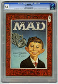 Magazines:Mad, Mad #30 (EC, 1956) CGC VF- 7.5 Cream to off-white pages. FirstAlfred E. Neumann cover, by Norman Mingo. Gunsmoke, Disneylan...