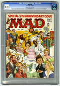 Magazines:Mad, Mad #35 (EC, 1957) CGC NM- 9.2. Fifth anniversary issue. Cinderellaparody. Wraparound cover by Norman Mingo. Interior art b...