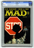 "Magazines:Mad, Mad #47 (EC, 1959) CGC VF+ 8.5 Off-white pages. ""Jack and Jill""parody. Combined TV shows spoof. Sid Caesar's first article ..."