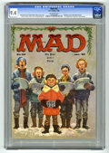 Magazines:Mad, Mad #52 (EC, 1960) CGC NM 9.4 Off-white pages. Christmas cover byKelly Freas. Interior art by Wally Wood, Mort Drucker, Dav...