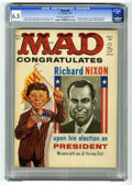 "Magazines:Mad, Mad #60 (EC, 1961) CGC FN+ 6.5 Cream to off-white pages. JFK &Richard Nixon flip cover. Shakespeare primer. First ""Spy vs. ..."