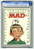 Magazines:Mad, Mad #92 Gaines File Copy (EC, 1965) CGC NM+ 9.6 Off-white to whitepages. Christmas cover by Norman Mingo. Children's safety...